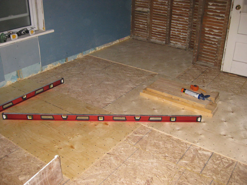 Day 87-89 – The Second Level of Subfloor: Plywood